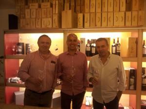 Angel, Jose Carlos Roman y Miguel Prohens de ENOTECA BAROLO
