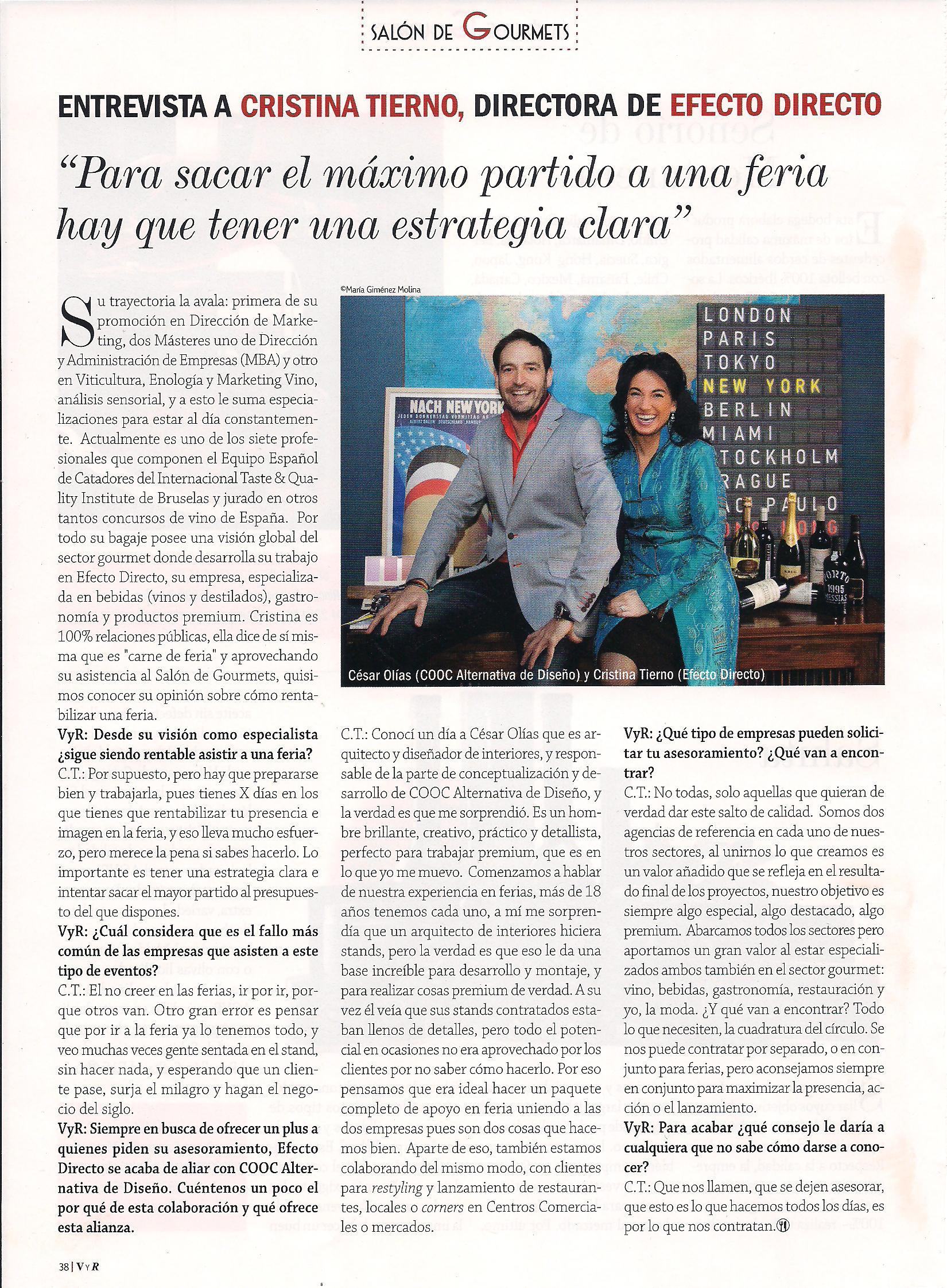 Entrevista_Vinos y Restaurantes_ PremiumConcept
